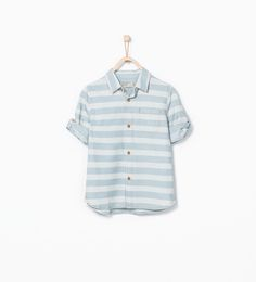 Faded striped shirt-Shirts-Boy (3-14 years)-KIDS   ZARA United States