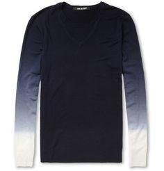 Neil BarrettOmbre Fine-Knit Wool Sweater MR PORTER