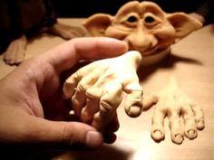 Curso de duendes articulados artesanales gestoduende-2 Polymer Clay Fairy, Polymer Clay Sculptures, Polymer Clay Dolls, Polymer Clay Projects, Sculpture Clay, Clay Crafts, Sculpting Tutorials, Clay Tutorials, Paper Clay