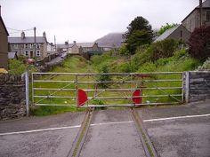 Disused Level Crossing - Blaenau Ffestiniog, North Wales
