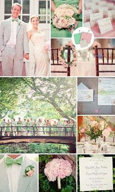 Wedding Color Palettes Mint, Blush, Grey. This is so perfect.