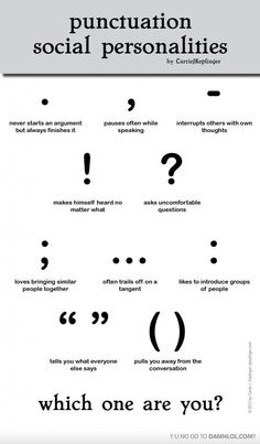 Punctuation And Their Social Personallities