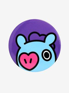 Mang is showing his cute heart nose to add love and epic dance moves to your bag or jacket! This big button from features the dancing pony on a purple background. Eligible for US and Canada Shipping Only Ghost Cat, Pizza Cat, Purple Backgrounds, Bts Chibi, Cd Art, Dance Moves, Cute Stickers, Bts Wallpaper, Hobbit