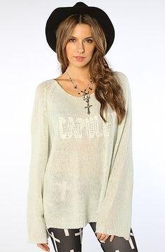 The Capulet Pennny Lane Sweater in Sky by Wildfox