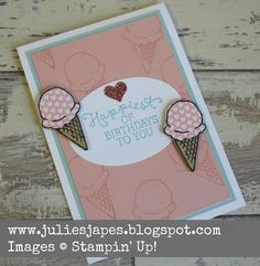 Julie Kettlewell - Stampin Up UK Independent Demonstrator - Order products 24/7: Ice Cream Birthday