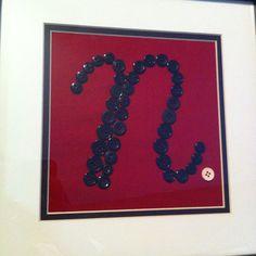 Button letters<3 made by Jennifer van leer