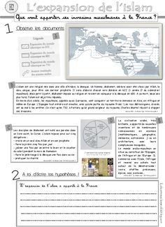 Islam, CM, histoire document élèves et traces écrites History Of Wine, Ancient World History, Rod And Staff, High School French, Hebrew Words, Kids Learning, Learning Process, French Teacher, Document