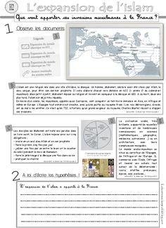 Islam, CM, histoire  document élèves et traces écrites