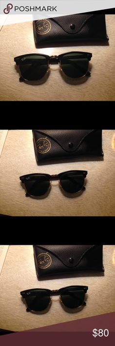 Ray-Ban club master series Ray ban sunglasses . Club master series . Can measure dimensions if interested . Comes with cleaning cloth and original case . No scratches excellent like new condition. Ray ban Accessories Glasses