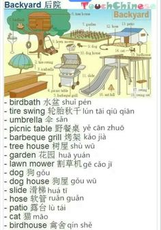 Chinese for the backyard.