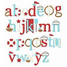 All Appliques - Nautical Font