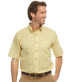 #LLBean: Wrinkle-Free Twill Sport Shirt, Traditional Fit Short-Sleeve Windowpane