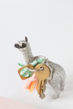 DIY llama keychain