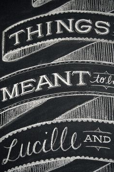 Typography with chalk