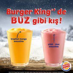 Kışın da buz gibi içecekleri seven Burger King'çilere Smoothie!