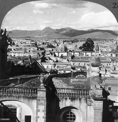 Exterior View Of Mexico City, Mexico, Around 1900-1920. The City, The Country'S Capital, Is Located 2000M Above Sea-Level.