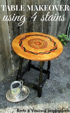 Redo It Yourself Inspirations : Stain Painted Accent Table
