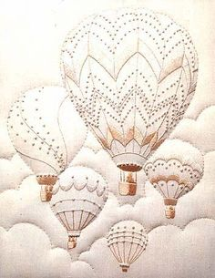 Majestic Balloons Embroidery Kit | sewandso