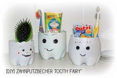 DIY Zahnputzbecher aus Platstikflaschen selbstgemacht