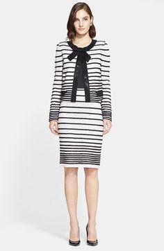 Women's St. John Collection Eyelash Degrade Stripe Knit