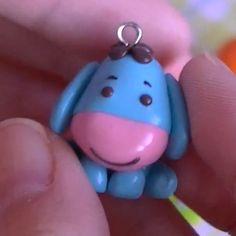 Eeyore creation from Polymer Clay. Made into a charm! So cute! And I am learning how to do this as we speak!!!!!   ~jessie(: