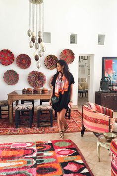 Marrakech, Morocco: and a tale of Shay Mitchell at Peacock Pavilions & with Project Soar — M. Bohemian Interior, Bohemian Decor, Interior Bohemio, Moroccan Interiors, Moroccan Rugs, Deco Boheme, Boho Home, Eclectic Decor, Interior Design Inspiration