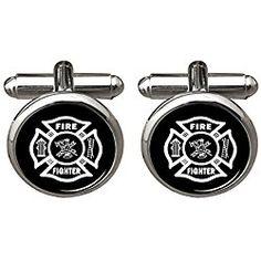 Firefighter Cufflinks Gifts for Fireman Men Accessories Fire Fighter Gift