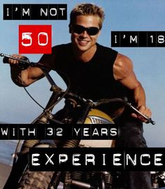 Brad Pitt is a lover of the powered two-wheeler. Description from pinterest.com. I searched for this on bing.com/images