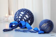 Katariina kudugurmee: Traditsioonid  Crocheted Christmas ball