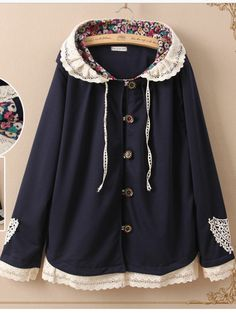 autumn garden lace jacket #morigirl #kawaii