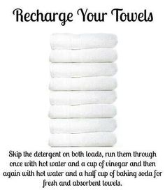 Recharge towels