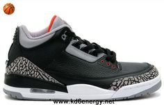 Black/Cement Grey-White-Varsity Red Air Jordan 3 III Retro