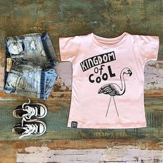GIRLS • Bandit Kids Kingdom of Cool tee, I Dig Denim Savannah shorts & Converse Chuck Taylor high tops. Take 25% OFF all Bandit Kids as well as loads of other brands in our mid season sale by entering code MID25 at checkout • www.tinystyle.com.au