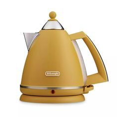 Buy De'Longhi KB3016.Y Argento Mood Kettle - Yellow | Kettles | Argos Did Electrical, Kettle And Toaster, Cord Storage, Argos, Italian Style, Unique Colors, Yellow, Kettles, Stuff To Buy
