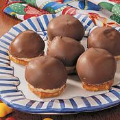 Peanut Butter Fluff on a Mini-Pretzel dipped in Milk Chocolate! YUM!  Gotta try these!