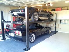 The best car lifts for home garage morn home garage parking 4 post car storage lifts for garage bonellibsd co parking lift that fits in [. Bike Garage, Garage Car Lift, Garage House, Dream Garage, Car Storage, Garage Storage, Garages, Home Car Lift, Portable Car Lift