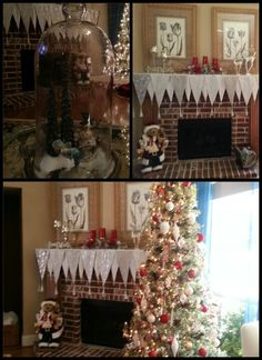 Christmas tree and mantel done