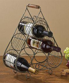 Look what I found on #zulily! Six-Bottle Wire Wine Rack #zulilyfinds