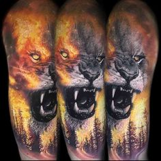 Badass Lion Tattoos - Badass Tattoos for Men: Best Tattoo Ideas and Cool Designs ., # for # Men Tattoos Arm Mann, Wolf Tattoos, Arrow Tattoos, Feather Tattoos, Body Art Tattoos, New Tattoos, Celtic Tattoos, Forearm Tattoos, Tattoos For Guys Badass