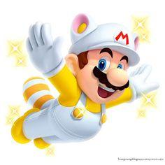 Mario con cola de zorro volando