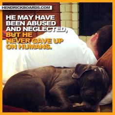 """He May Have Been Abused And Neglected, But He Never Gave Up On Humans."""