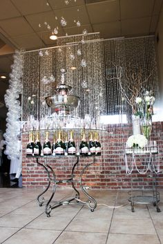 Champagne Display for a Great Gatsby Party
