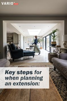 In this guide, we walk you through what you'll need to know and think about before you begin your house extension project. Open Plan Kitchen Dining Living, Small Cottage Kitchen, Kitchen Family Rooms, Open Plan Living, Huge Kitchen, Garden Room Extensions, House Extensions, Home Living Room, Rear Extension