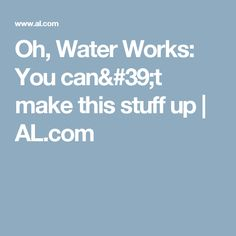 It's hard to talk about the Birmingham Water Works without descending into profanity Birmingham News, It Works, Canning, Water, How To Make, Gripe Water, Home Canning, Nailed It, Conservation