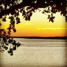 Sunset on an Oklahoma lake.  Photo by sheilajopiano