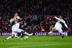 Luis Suárez marca el segundo tanto del Barça