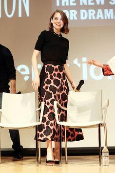 Best dressed: Emma Stone in Lanvin Pre Fall 2015. #Modest doesn't mean frumpy. #style #fashion www.ColleenHammond.com