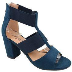 Ladies Elasticated Sandals - Navy   Buy Online in South Africa   takealot.com South Africa, Platform, Navy, Sandals, Heels, Stuff To Buy, Fashion, Hale Navy, Heel