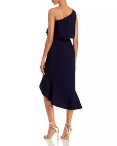 AQUA - Crepe Flounce Cocktail Dress - 100% Exclusive Aqua Outfit, Spanish Wedding, Style Guides, Stretch Fabric, Fabric Design, Strapless Dress, Clothes For Women, Model, Aqua Clothing