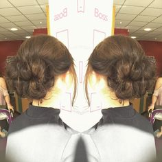 Hair-up by our stylist Nikki from Saturday. We hope the charity event was a huge success #hair #hairup #wella #ghd #hairinspo #haironfleek